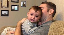 Clip hài hước: Bé òa khóc nức nở sau khi bố mình bất ngờ cạo râu