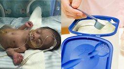 Bé sơ sinh 13 ngày tuổi bị hoại tử ruột vì sai lầm nghiêm trọng của mẹ khi pha sữa