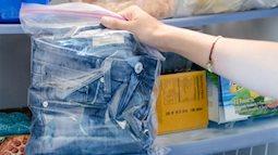 Lý do một số người cho quần jean vào tủ lạnh