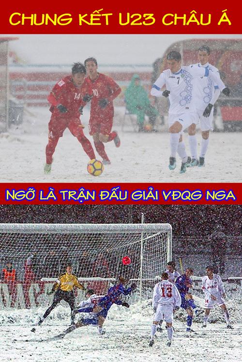 Khi trận chung kết diễn ra, nhiều người còn nhầm tưởng đang xem giải vô địch Nga.