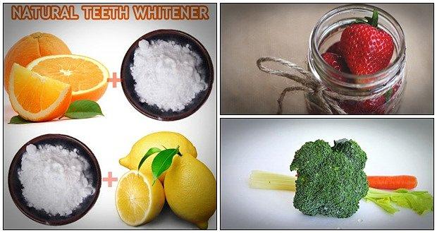 trắng răng nhờ chanh, dâu và cà rốt