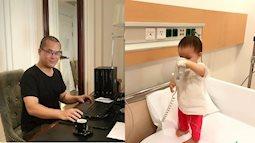 """Cảm động bức thư """"Hành trình đời người"""" ông bố Hà Nội gửi con gái nhỏ đang nằm viện"""