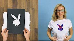 Chỉ cần bìa cứng và sáp màu, bạn có thể tự tay in hình lên áo phông đẹp chẳng kém cửa hàng chuyên nghiệp