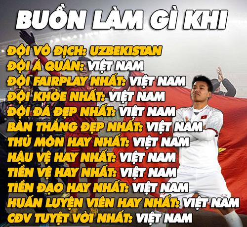 Dù U23 Việt Nam thua trận nhưng chúng ta không có gì phải buồn.