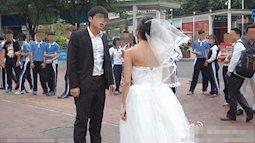 Thời buổi nào mà còn kiểu đàn ông: Hạ nhục và đấm vợ ngay tại chỗ vì dám mặc áo cưới hở hang