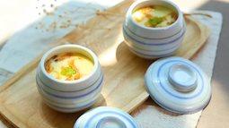 #Bữa xế cho bé: Trứng hấp tôm kiểu Nhật mềm mại, thơm ngon