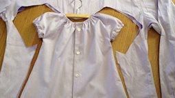 Chẳng phải tốn nhiều tiền, con vẫn có váy sành điệu diện hè, chỉ với áo sơ mi cũ của bố