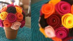 Tận dụng vải thừa, làm chậu hoa đẹp lung linh trang trí nhà dịp Tết