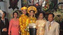 Lâm Khánh Chi diện áo dài vàng nổi bật, hạnh phúc trong ngày lên xe hoa với chú rể kém 8 tuổi