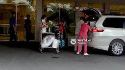 Hoa hậu Đặng Thu Thảo đã rời bệnh viện trở về nhà sau khi hạ sinh con đầu lòng