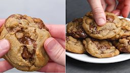 #Bữa xế cho bé: Mẹ khéo tay làm bánh quy bơ đậu phộng nóng chảy ngon tuyệt hảo