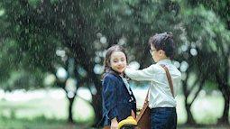 Bộ ảnh ''Em gái mưa'' phiên bản con nít khiến người lớn cũng phải tan chảy