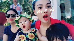 Ngắm vẻ đáng yêu của con gái Hồng Quế trong kỳ nghỉ hè đầu tiên
