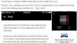 """Siêu mẫu Hà Anh bức xúc vì bị tài xế Uber đuổi xuống xe, vứt hành lý ra đường: """"Uber sáp nhập Grab rồi, chúng tôi không cần khách nữa"""""""