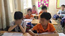Học sinh khóc nhớ cô giáo phạt nữ sinh uống nước giẻ lau