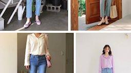 Định mặc quần jeans ống đứng, các nàng hãy chọn 1 trong 4 combo cứ lên đồ là đẹp miễn chê này