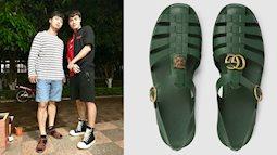 CHẤT PHÁT NGẤT: Tiết kiệm 11 triệu mua dép Gucci, Công Phượng sắm ngay dép rọ Việt Namchỉ 70k