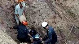 Hàng chục người cứu sống vợ chồng bị chôn vùi hơn 30 phút