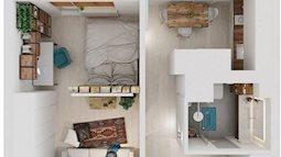 4 kiểu thiết kế nhà 40 m2 cho vợ chồng trẻ tha hồ sống thoải mái như nhà trăm m2