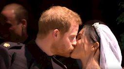 Đám cưới Hoàng gia Anh: Hoàng tử Harry và Công nương Meghan Markle trao nhau nụ hôn, chính thức về một nhà