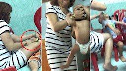 Kinh hoàng cảnh bảo mẫu mầm non bạo hành khi cho trẻ ăn