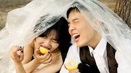 Bộ ảnh cưới không theo chuẩn mực thông thường, điều cảm nhận duy nhất là tình yêu và sự hạnh phúc