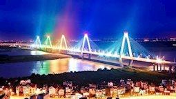 Ngắm bộ ảnh các cây cầu Việt Nam lung linh về đêm