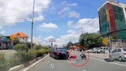 Bình Dương: Tài xế Mercedes S400 đánh lái thần thánh cứu hai mạng người