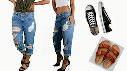 """Mẹo vặt thời trang: Chị em đảm đang chế quần jeans rách """"chanh sả"""" bằng dụng cụ bếp nhà nào cũng có"""