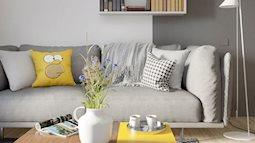 Ấn tượng với căn hộ hai sắc màu xám và vàng