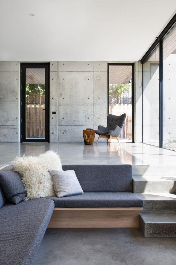 Phòng khách chìm, giải pháp chia tách không gian sang chảnh, đẹp mê mẩn