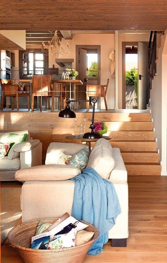 Phòng khách nhiều tầng, giải pháp chia tách không gian cực kỳ sang chảnh