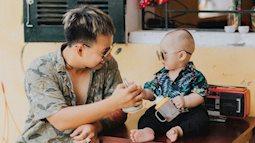 Cho mẹ ra rìa, bố và con gái 'ăn mảnh' tạo dáng chụp ảnh siêu ngầu
