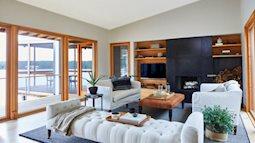 Ngắm căn nhà ngoại ô có thiết kế thông minh, các phòng đều view ra hồ
