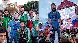 Vợ cấm sang Nga xem World Cup, anh chàng được hội bạn thân in ảnh mang theo