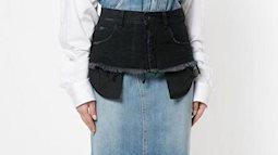 Kiểu váy jeans 2 cạp kỳ cục có giá hơn 30 triệu đồng