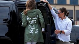 Trang phục gây tranh cãi của Đệ nhất phu nhân Mỹ khi thăm trẻ em nhập cư