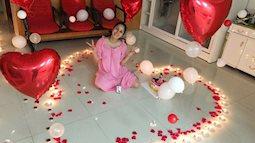 Khánh Thi 'trốn' viện về nhà làm sinh nhật bất ngờ cho chồng