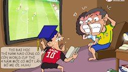 Nỗi niềm của sĩ tử ôn thi mùa World Cup