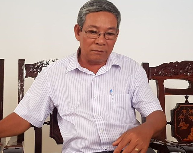 Ông Trương Văn Đới, Trưởng Phòng Giáo dục và Đào tạo thị xã Hương Trà. Ảnh: TTT