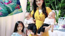 Hot mom Hà Thành Vũ Diệu Thúy chia sẻ cách giảm cân hiệu quả sau khi sinh thai đôi