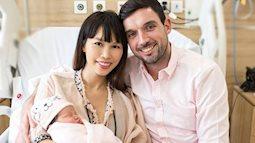 Vợ chồng Hà Anh hạnh phúc bên con gái 1 tuần tuổi