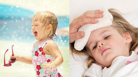 Bỏ túi cách chữa say nắng, say nóng cho trẻ vào mùa hè