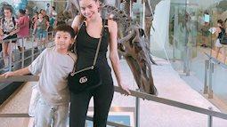 Hồ Ngọc Hà dành trọn kỳ nghỉ cho con trai ở Mỹ mà không có Kim Lý