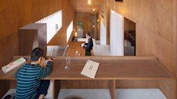 Ngôi nhà 5 tầng kiểu mái dốc đặc biệt ở Nhật