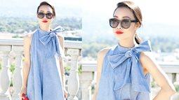 Mẹo vặt thời trang: Áo thêm xinh, người mặc thêm 'chanh sả' nhờ khéo léo thắt nơ