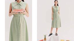 Mẫu váy liền sát nách đến sở làm mỗi ngày trong những ngày nắng nóng