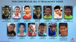 Tin vui nhất trong ngày: 13 thành viên đội bóng Thái đã được giải cứu thành công