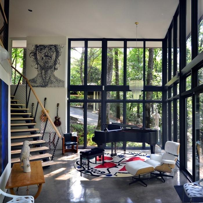 Ngôi nhà trong rừng lạnh đến tê người nhờ thiết kế tường kính