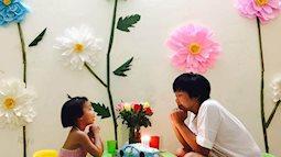 Bà mẹ trẻ biến ngôi nhà như vườn hoa cho cô con gái nhỏ